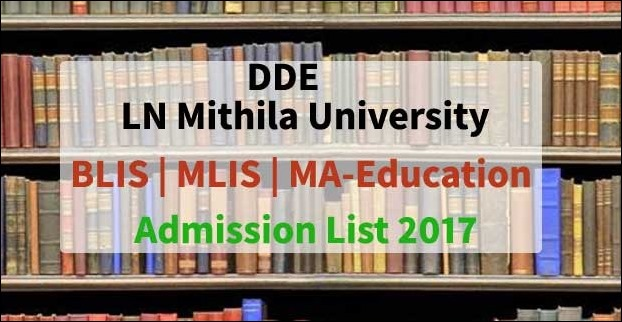 Lalit Narayan Mithila University BLIS MLIS MA-Education Admission Results List