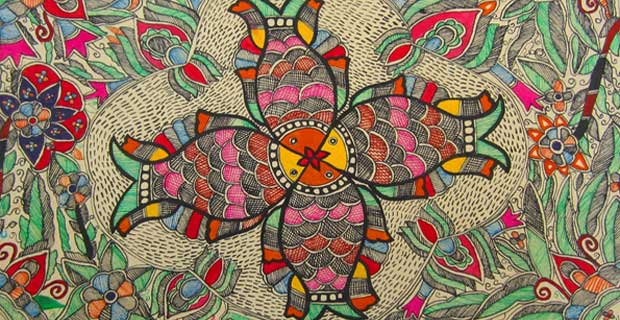 Madhubani Painting is a rich form of traditional art practiced in Raj Nagar and nearby villages of Madhubani