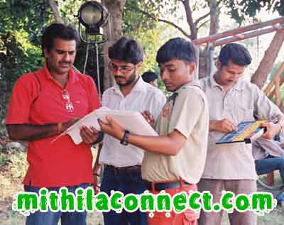 Maithili film being shot in mithila.