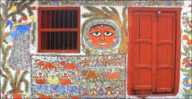 Jitwarpur village is the hub of madhubani paintings in Mithila