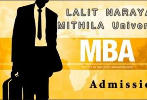 Admissions in Lalit Narayan Mithila University for MBA 2015-2017 session