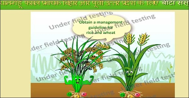 Based on the suggestions of Crop Manager - An Agricultural Software Application Rajendra Agricultural University has found some good field results