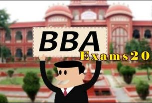 BBA LNMU - 3rd Part examination from July 29