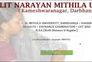 Check bed lnmu entrance result online