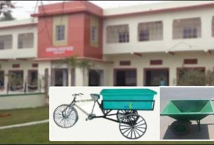 New Hand barrows and garbage disposal rikshaws for each ward in Darbhanga