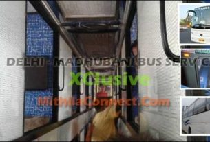 Air Conditioned bus service from Delhi upto Madhubani for last minute travellers