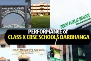 Find the performance of schools of Darbhanga in Class X CBSE 2017