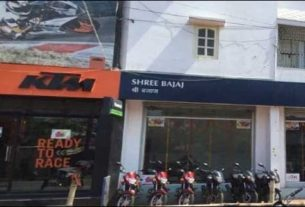 Shree Bajaj the showroom of Bajaj 2-wheelers in Darbhanga