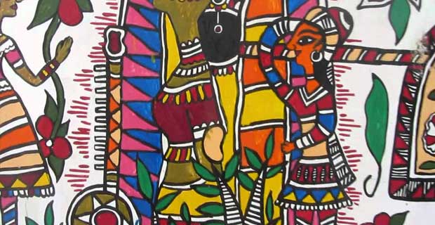 Colour Painting Style in Madhubani Art