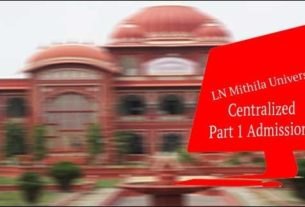 Centralized Online Admissions in LNMU for Part 1 Admissions